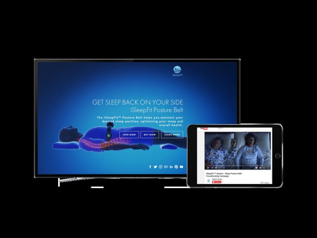 two screenshots of iSleepFit promotions
